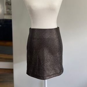 Sparkle mini skirt.